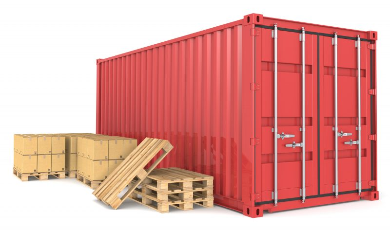 How many pallets fit in a container