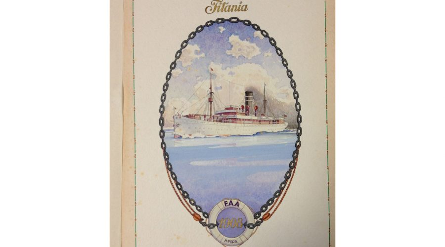 The 'Titania' was one of Finland Steamship Company's first passenger vessels to operate on their service to Hull in 1908
