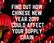 Image of chinese lanterns, text reads find out how chinese new year 2019 could affect your supply chain