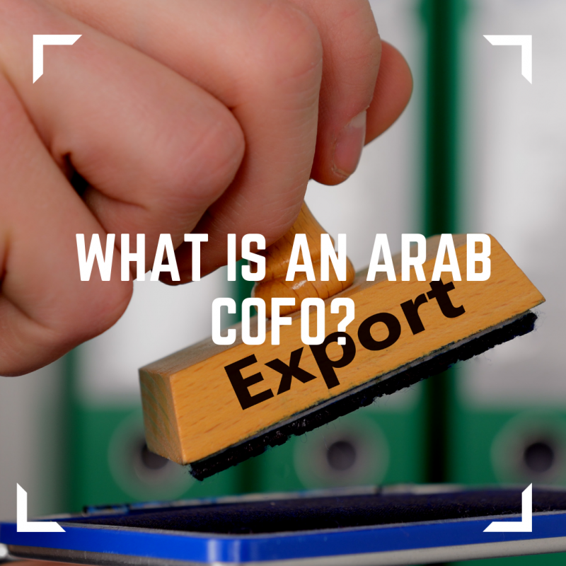 Image of what is an Arab CofO