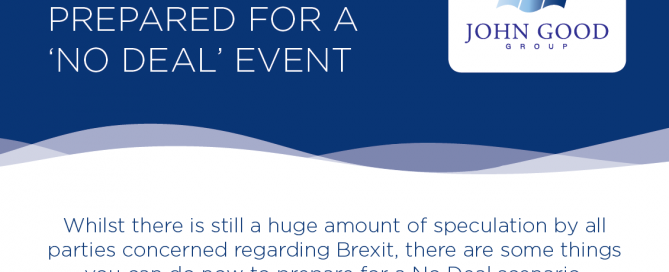 Image of title of john good shipping's Brexit Flyer on preparing for a no deal event