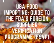 image of FVSP (Foreign Supplier Verification Programme) guide shown on top of a US Christmas buffet with Turkey