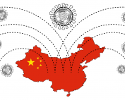image of coronavirus COVID-19 connected to China